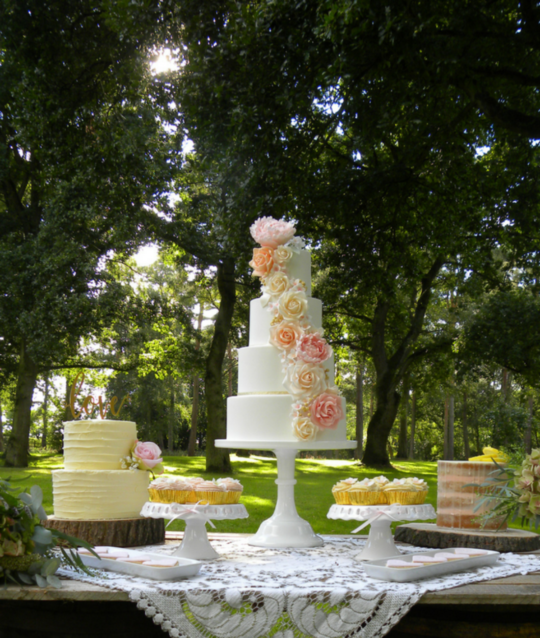 floral_cascade_roses_peony_wedding_cake_dessert_table