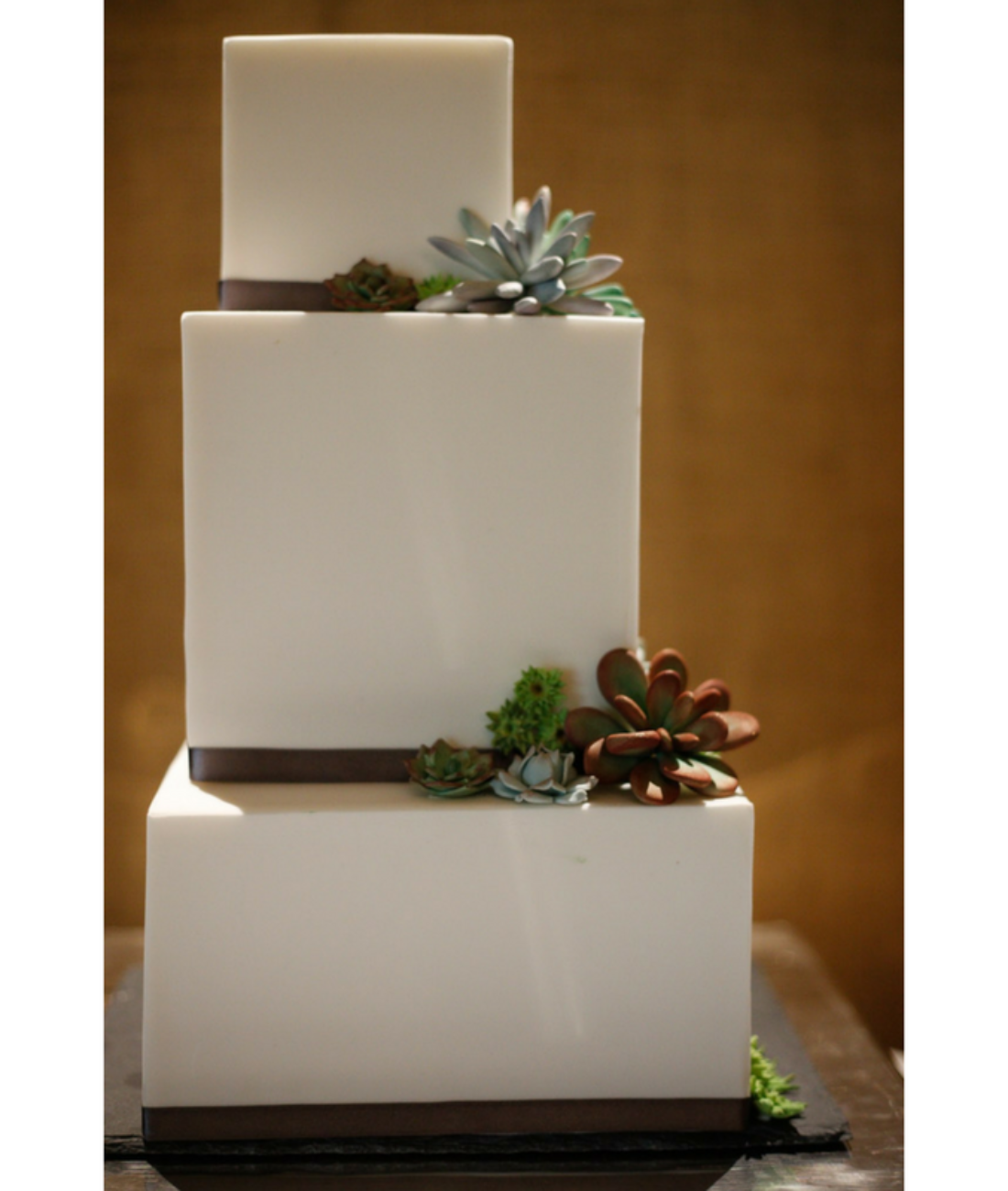 square_wedding_cake_succulents_geometric