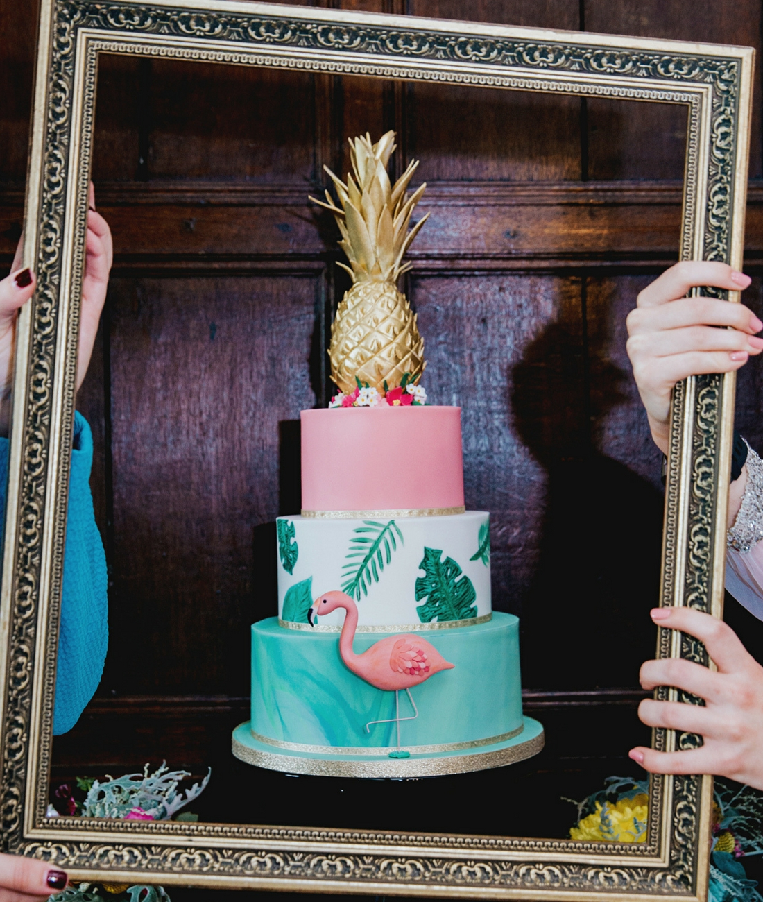 Love Artisan Wedding Cakes - Three Tier Tropical Golden Pineapple Wedding Cake