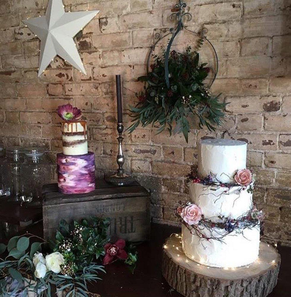 Buttercream boho wedding cake